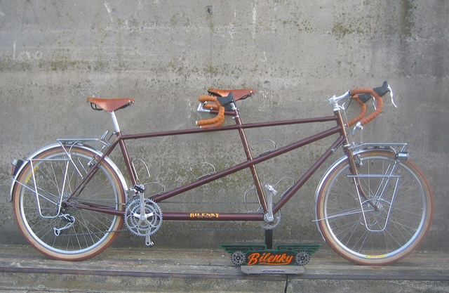 This classic styled bicycle is made by tandem expert, Bilenky. It's one of the nicest we've seen!