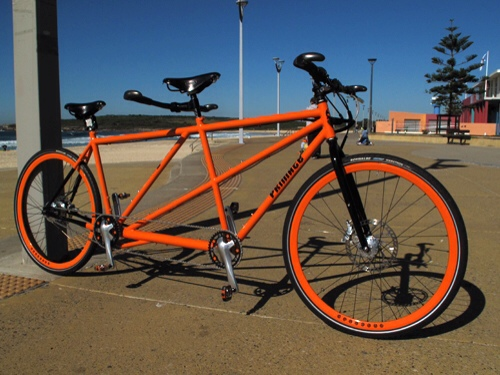Another small manufacturer in Australia, Primate, make some striking custom tandems.