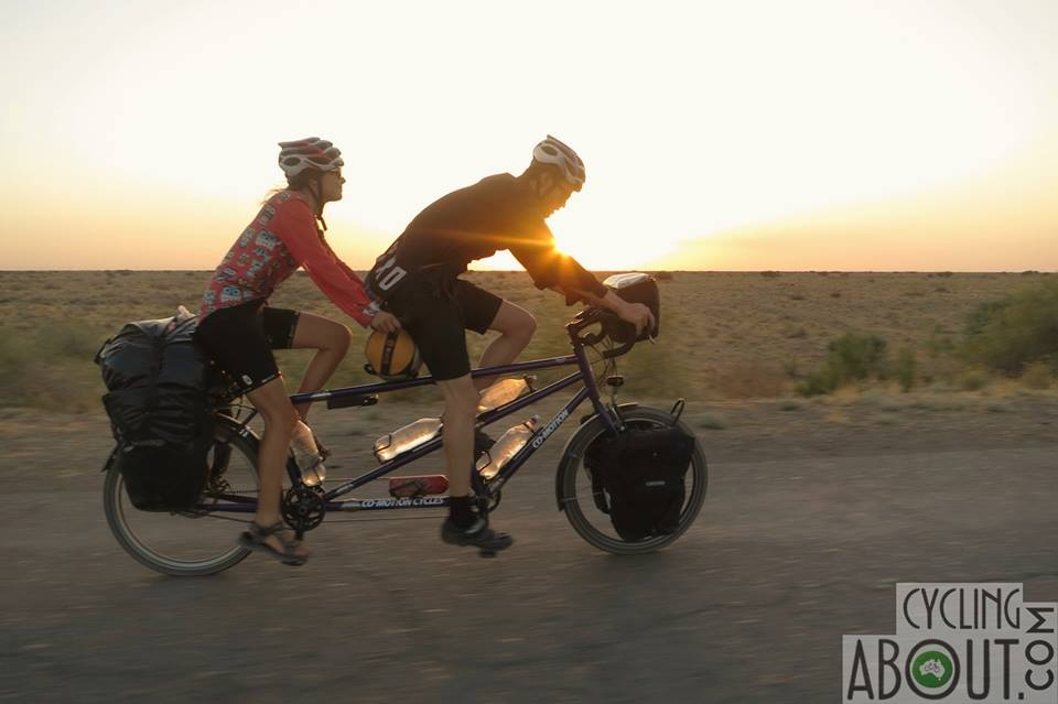Bicycle touring Turkmenistan on a tandem