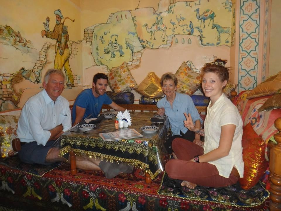 Eating in Uzbekistan restaurant