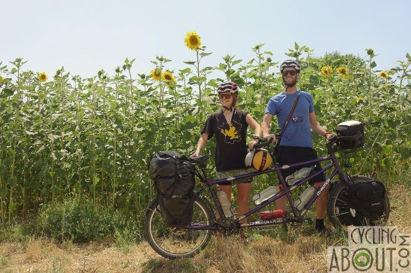 Bicycle touring tandem