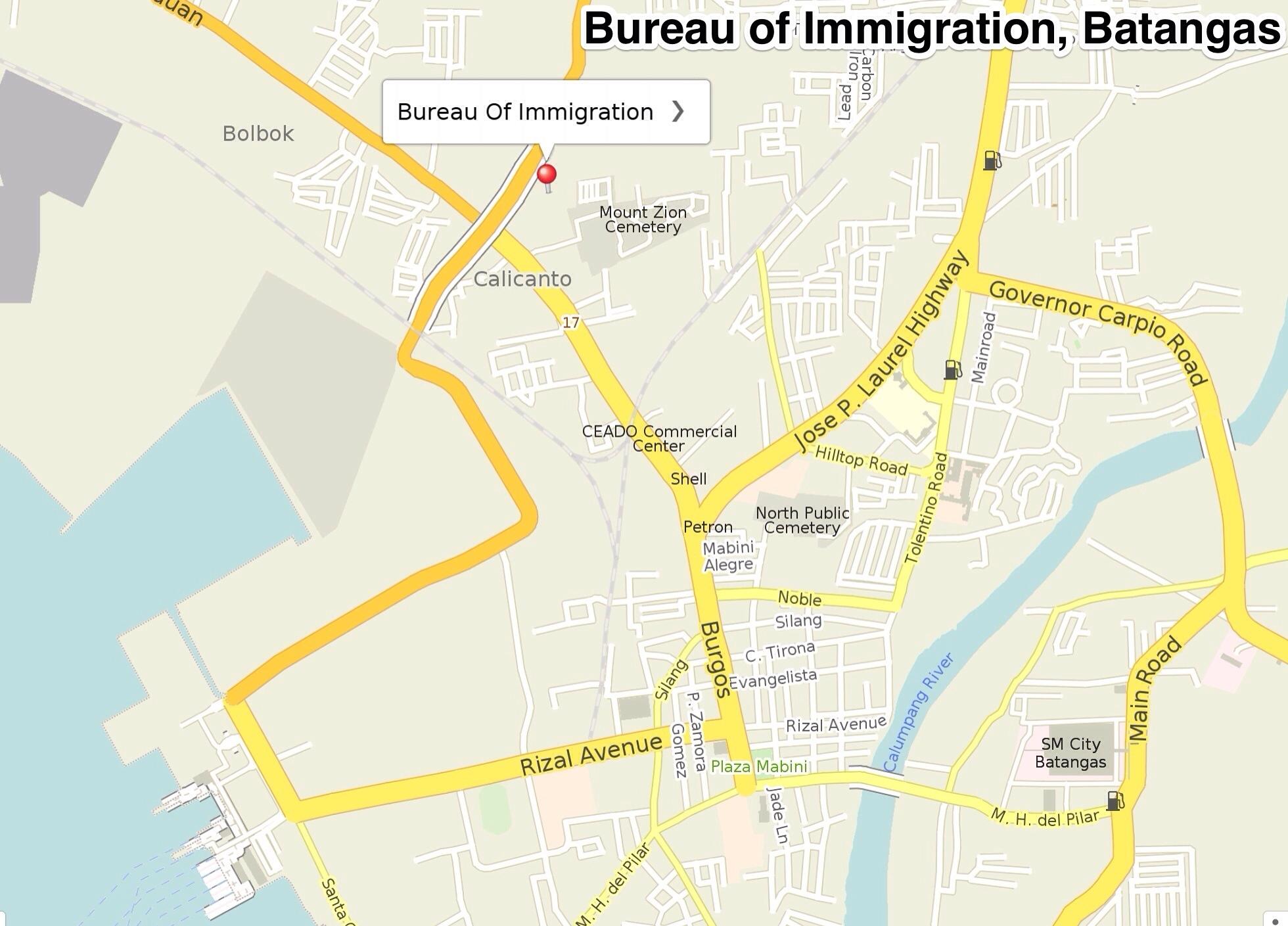 Bureau of immigration batangas