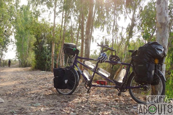 Tandem bicycle touring