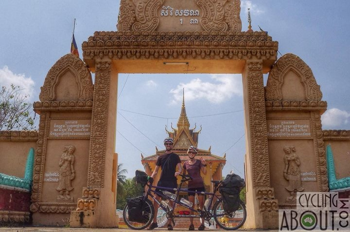 Tandem bicycle touring Cambodia