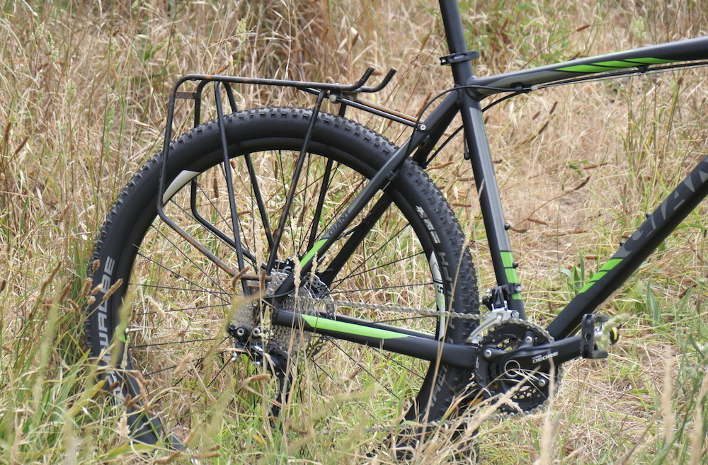 Fitting a rear rack is not a problem on the Giant Talon