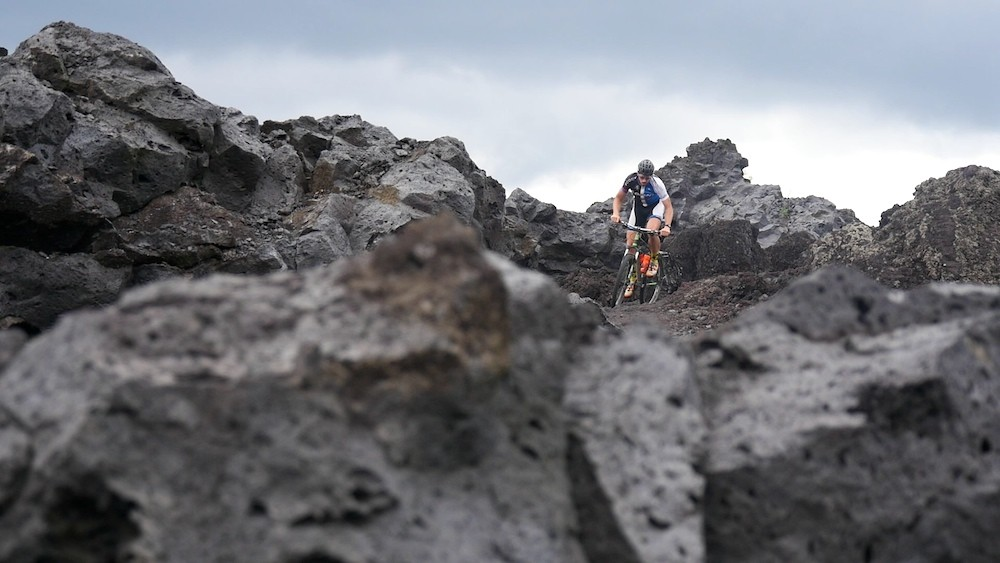 Paul van der Ploeg riding inside a volcano in Bali - December 2015