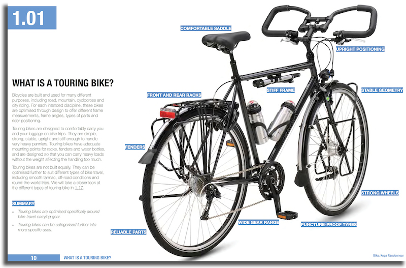 Bicycle Touring Book Sample Page 10