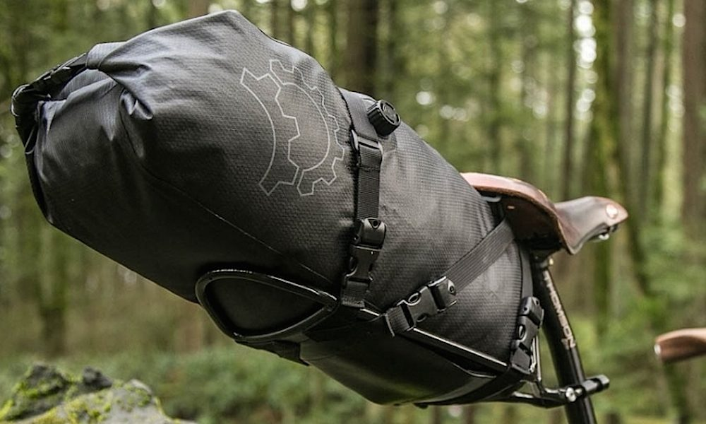 The Bindle Rack helps to reduce side-to-side sway typical of many bikepacking saddle bags.
