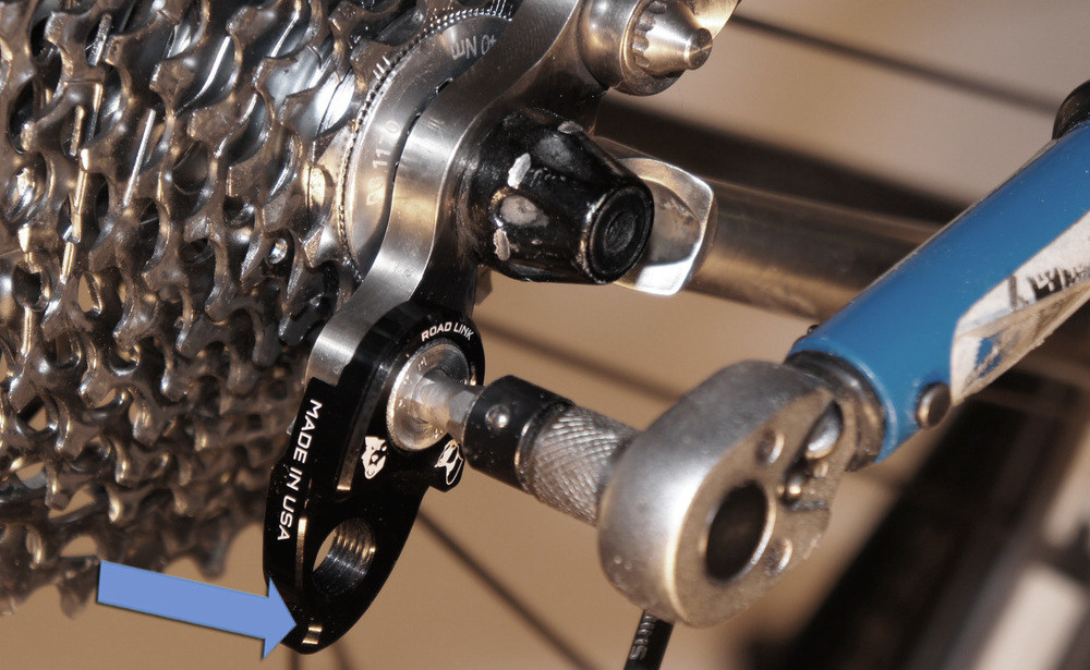 The Lindarets RoadLink will allow you to use wider-range cassettes with your road derailleurs.