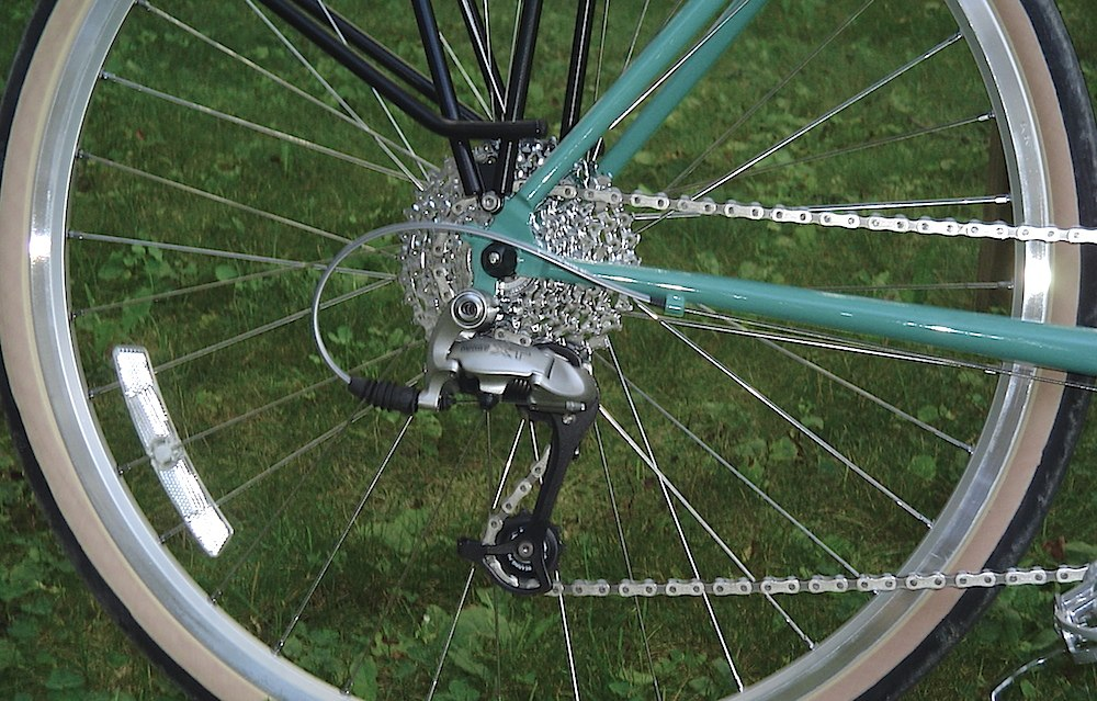 You can use 9-speed rear derailleurs with 10-speed gearing.