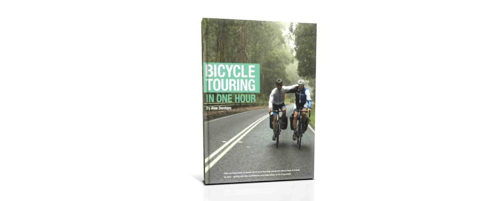 Bicycle Touring in One Hour - I'm really proud to have my name on the cover!
