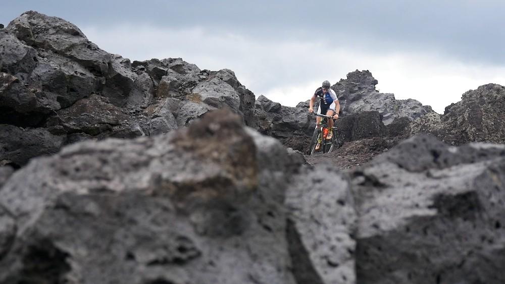Paul van der Ploeg riding inside a volcano in Bali - December 2015